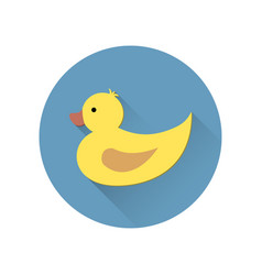 duck icon in flat style vector image