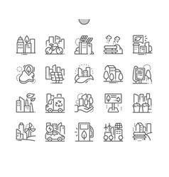 eco friendly city well-crafted pixel perfect vector image