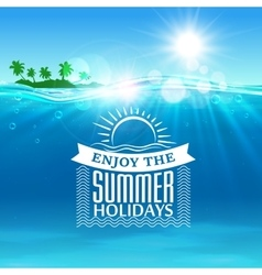 Enjoy summer holidays travel poster background vector