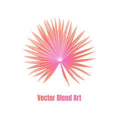 exotic leaf vector image
