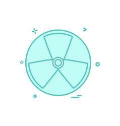 fan icon design vector image