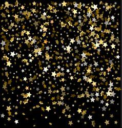 festive of falling stars vector image