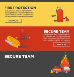 Fire protection and firefighter secure team web vector