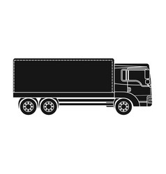 freight car single icon in black style for design vector image