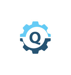 gear solution logo initial q vector image