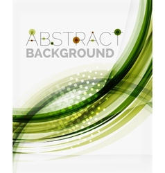 Green eco nature wave background vector image