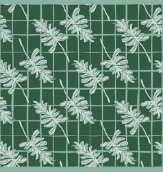 Grey branch silhouettes seamless diagonal pattern vector