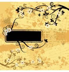 Grunge background floral vector