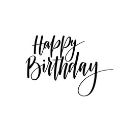 Happy birthday hand-drawn calligraphy lettering vector