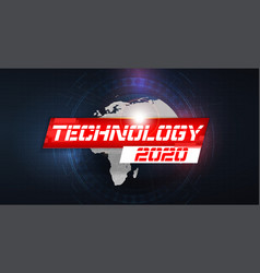 happy new 2020 year futuristic glowing festive vector image