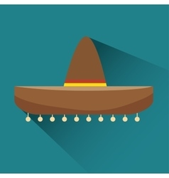 Icon hat mexican design vector