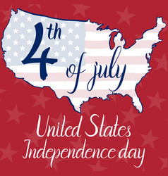 inscription 4th of july united states independence vector image