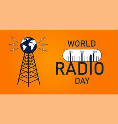international world radio day vector image