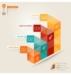 Isometric shape modern style design layout vector image vector image