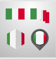 italy flag design set vector image