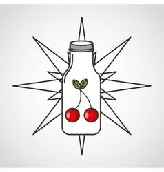 Juice fruit bottle silhouette icon vector