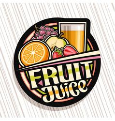 Label for fruit juice vector