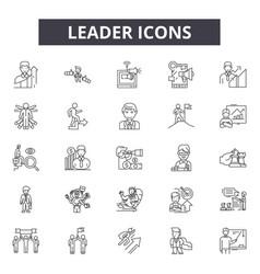 leader line icons signs set outline vector image