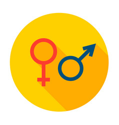 male female sign circle icon vector image