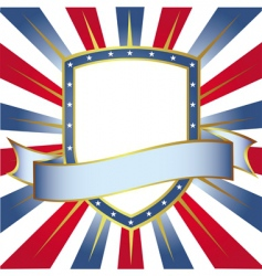 new frame usa colors shield vector image vector image
