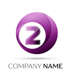 Number two logo symbol in the colorful circle on vector