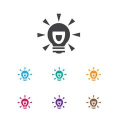 Of trade symbol on idea icon vector