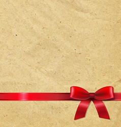 Old Paper With Red Ribbon vector image