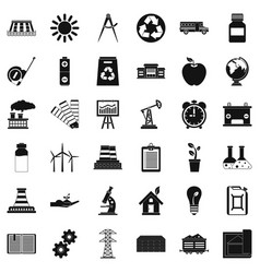 organization icons set simple style vector image