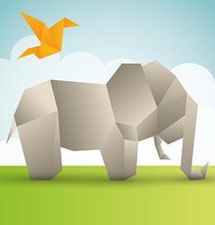 Origami design vector image
