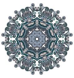 Ornament round ornamental geometric doily vector