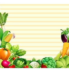 Paper design with vegetables and fruits vector