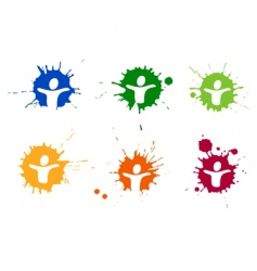 pictogram blots vector image