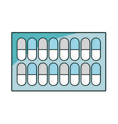 pills treatment pharmaceutical medication to care vector image