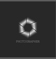 professional photo studio logo or photographer vector image