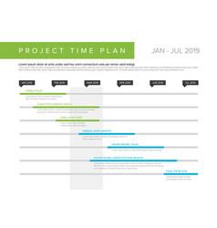 Project time plan gantt graph vector