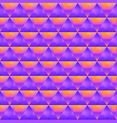 purple triangle pattern vector image