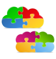 Puzzle Clouds vector image