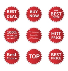 Red Shopping Labels vector