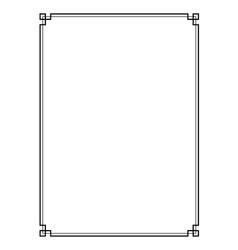 Retro page border vector