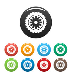 Rubber protector icons set color vector