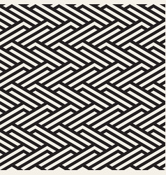 Seamless pattern geometric striped ornament vector