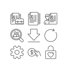 Service synchronize and payment icons cv vector