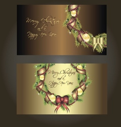 Set of beautiful postcards for christmas vector image