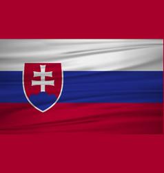 Slovakia flag flag of slovakia blowig in the vector