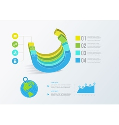 Solid business graph infographics vector