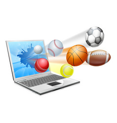 Sports laptop app concept vector