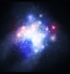 Starry background rich star forming nebula vector