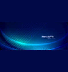 Technology banner design with light effects vector