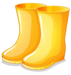 The yellow rubber boots vector image
