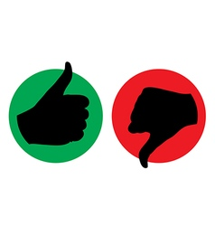 Thumb up thumb down icon silhouette vector